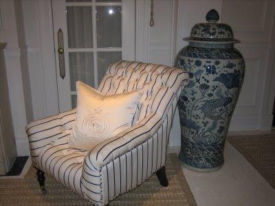 ... Ralph Lauren Blue And White Porcelain Vase ...