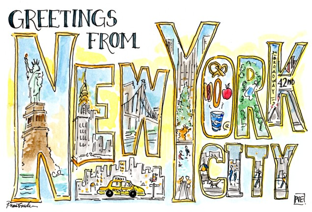 Picture postcard pve design new york city loving gal pve annie d ny364 m4hsunfo