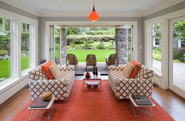 Twin-Eames-Wire-Tables-add-to-the-style-of-the-cool-sunroom